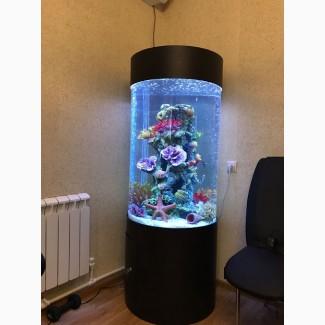 Продам шикарный цилиндрический аквариум