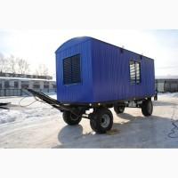 Вагон-дом жилой вагончик для проживания восьми человек на прицеп шасси колесах