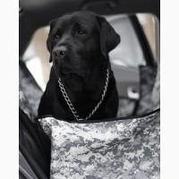Автогамак для перевозки собак в машине - Серый камуфляж