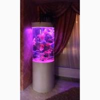 Продам потрясающий цилиндрический аквариум 93л