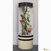 Красивый аквариум на 250л. цилиндрический