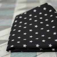 Лежак для собак - Чёрный с белыми звёздами