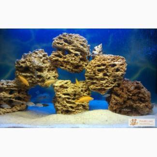 Камень песчаник для оформления аквариума в Москве