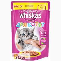 Whiskas Рагу с курицей для котят 85 г