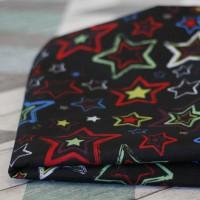 Лежак для собак - Чёрный с яркими звёздами